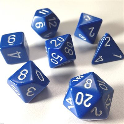Opaque: 7Pc Blue / White