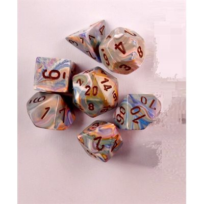 CHX27441 Festive Vibrant / Brown polyhedral 7die set | Boutique FDB