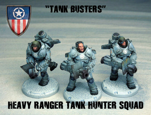 Dust Tactics Heavy Ranger Tank Hunter Squad