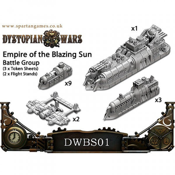 Dystopian wars Empire Of The Blazing Sun Naval Battle Group | Boutique FDB