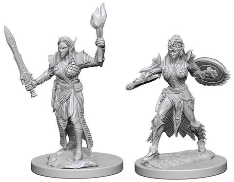 Pathfinder Deep Cuts Unpainted Miniature: Elf Female Fighter