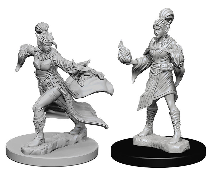 Pathfinder Deep Cuts Unpainted Miniatures: Elf Female Sorcerer | Boutique FDB