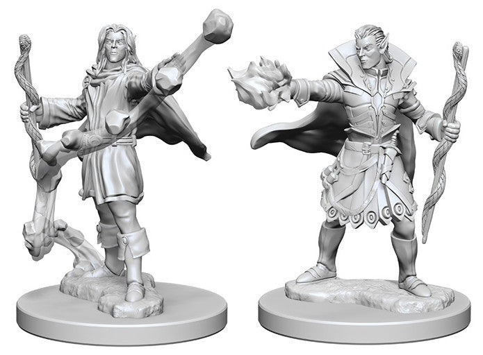 Pathfinder Deep Cuts Unpainted Miniatures: Elf Male Sorcerer | Boutique FDB