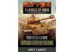 Fortress Europe: German Unit Cards | Boutique FDB