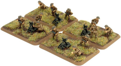 "Trench Mortar Platoon, with four 3"" Stokes Mortars"