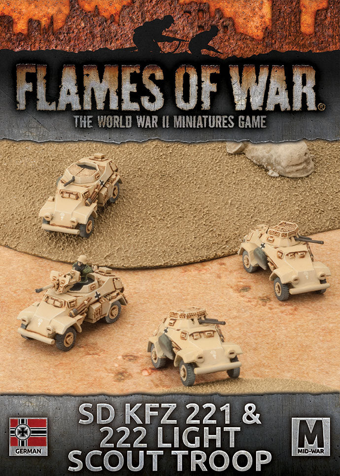 Flames of War Sd kfz 221 & 222 light scout troop | Boutique FDB
