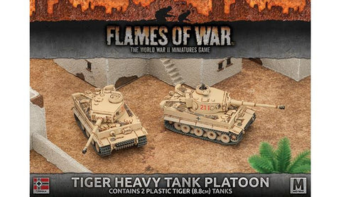 Flames of War Tiger Heavy Tank Platoon (Plastic)