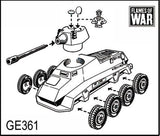 Sd Kfz 234/2 Puma or Sd Kfz 234/1, With 234/1 option (2 Turrets)