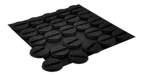 25mm Slotted Round Bases (25)