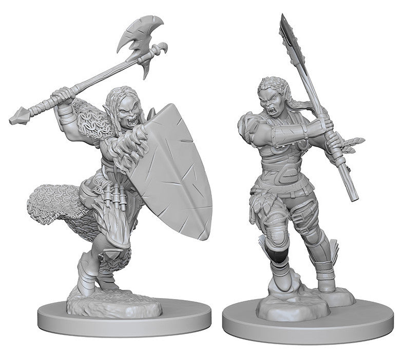 Pathfinder Deep Cuts Unpainted Miniatures: HalfOrc Female Barbarian | Boutique FDB