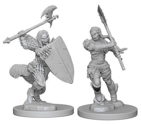 Pathfinder Deep Cuts Unpainted Miniatures: HalfOrc Female Barbarian