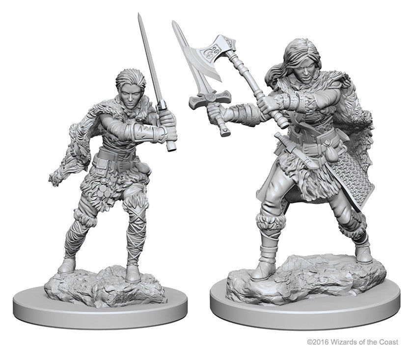 D&D Nolzur's Marvelous Unpainted Miniatures: Human Female Barbarian | Boutique FDB