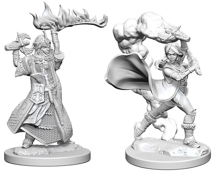 Pathfinder Deep Cuts Unpainted Miniatures: Human Female Cleric | Boutique FDB
