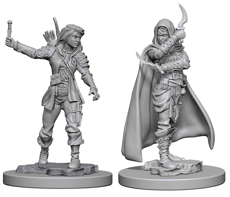 Pathfinder Deep Cuts Unpainted Miniature: Human Female Rogue | Boutique FDB