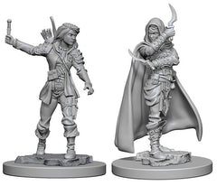 Pathfinder Deep Cuts Unpainted Miniature: Human Female Rogue