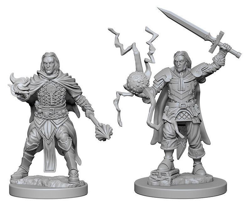 Pathfinder Deep Cuts Unpainted Miniatures: Human Male Cleric | Boutique FDB