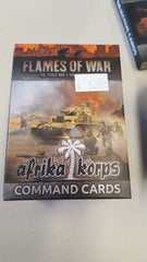 Flames of War Afrika korps command cards