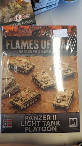 Flames of War Panzer II light tank platoon