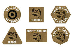 Flames of War Armoured Fist Tokens