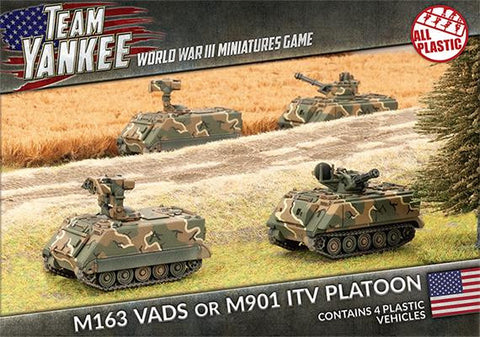 M163 VADS or M901 ITV Platoon (Plastic), with four vehicles