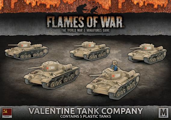 Flames of War Valentine Tank Company | Boutique FDB
