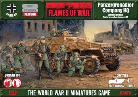 Flames of War Panzergrenadier Company HQ
