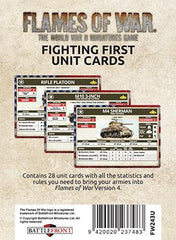 Flames of War Fighting First Unit cards