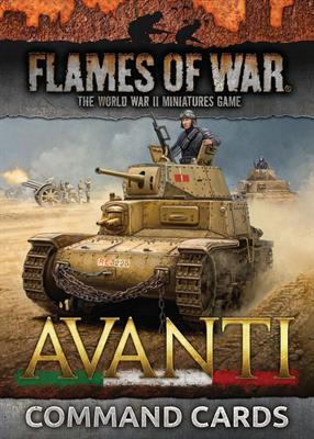 Flames of War Avanti command Cards