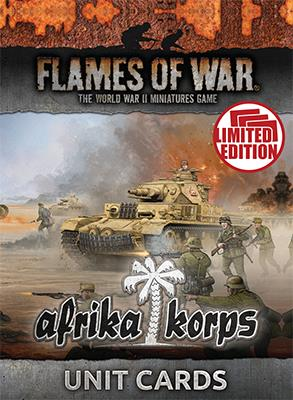 Flames of War Afrika korps Unit cards