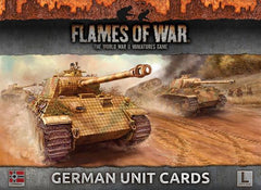 Flames of War German Unit Cards