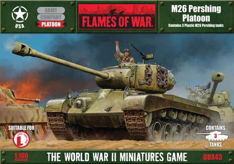 Flames of War M26 Pershing Platoon (plastic)