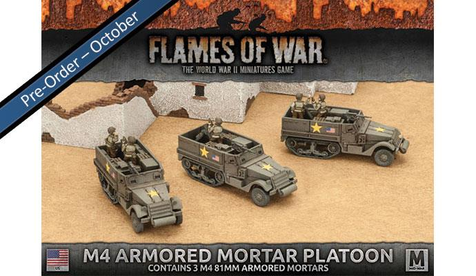 Flames of War M4 81mm Armored Mortar Platoon | Boutique FDB