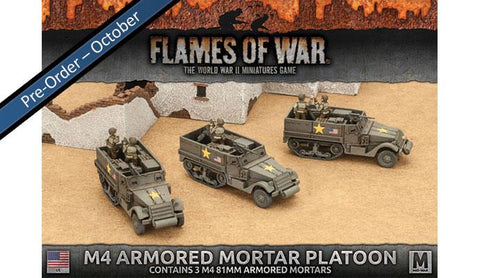 Flames of War M4 81mm Armored Mortar Platoon