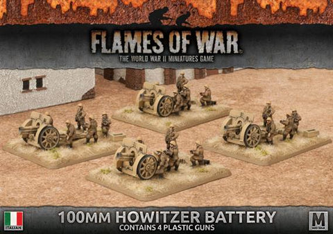 Flames of War 100mm howitzer battery IBX12