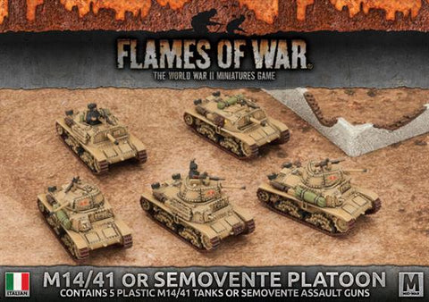 Flames of War M14/41 or Semovente Platoon (Plastic)