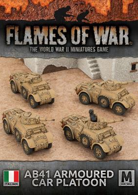 Flames of War IBX16 AB41 Armoured Car Platoon