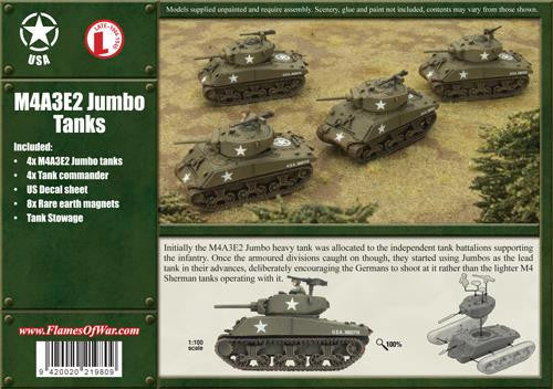 M4A3E2 Jumbo, Four Vehicles | Boutique FDB