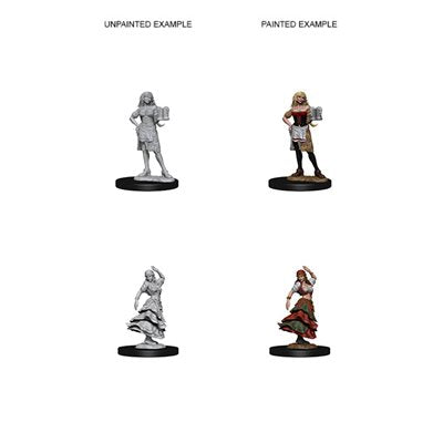 Pathfinder Deep Cuts Unpainted Miniatures: Wave 4: Bartender / Dancing Girl | Boutique FDB