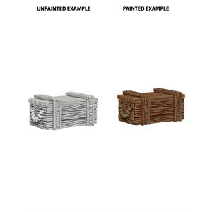 WizKids Deep Cuts Unpainted Miniatures: Wave 4: Crates | Boutique FDB