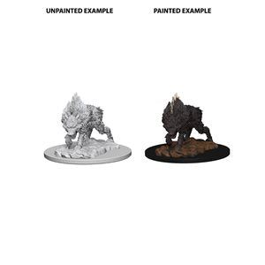 Pathfinder Deep Cuts Unpainted Miniatures: Wave 4: DireWolf