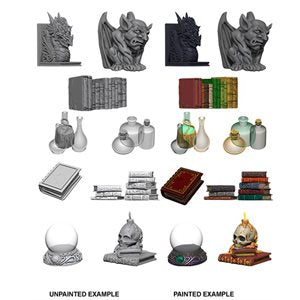 WizKids Deep Cuts Unpainted Miniatures: Wizards Room