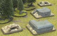 Machine Gun Bunkers, Two HMG Pillboxes and Nests | Boutique FDB
