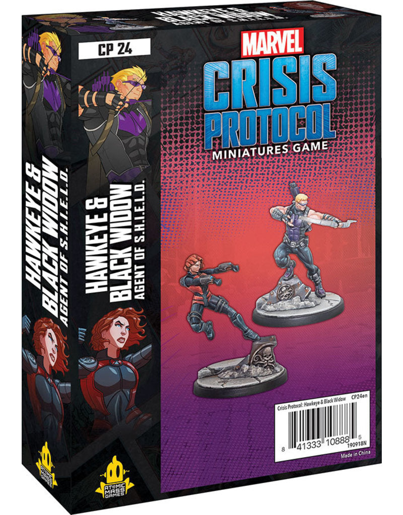 Marvel: Crisis Protocol – Doctor Hawkeye and Black Widow Character Pack | Boutique FDB