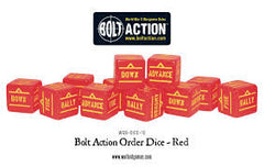 Bolt action orders dice red (12)