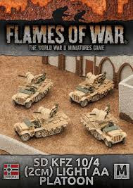 Flames of War SD kfz 10/4 2cm light AA platoon