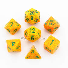 CHX25312 Speckled Lotus polyhedral 7-die set