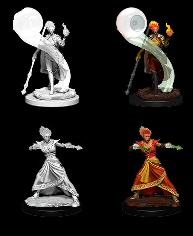 D&D Nolzur's Marvelous Unpainted Miniatures: Fire Genasi Wizard