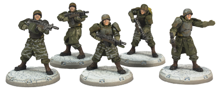 Dust Tactics Recon Rangers Squad