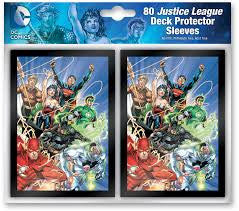 80 Justice League Deck Protector Sleeves | Boutique FDB