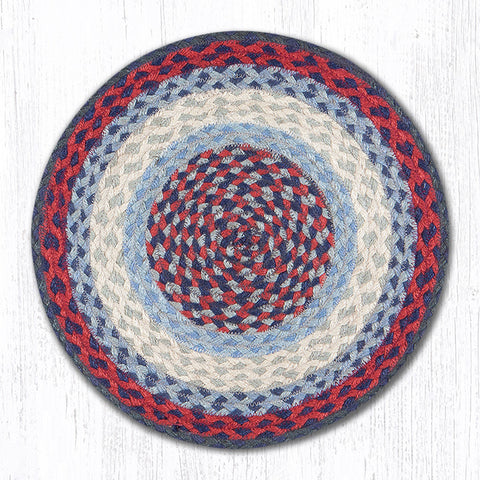 CH-015 Blue/Burgundy Chair Pad